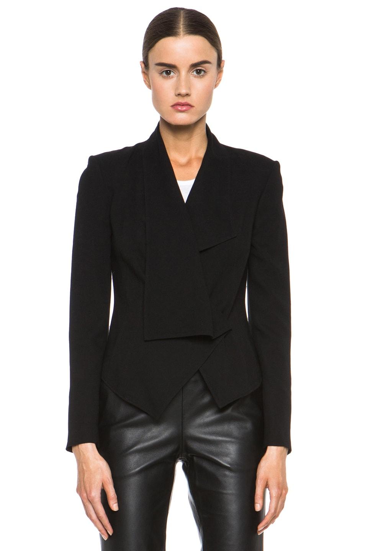 Image 2 of HELMUT Flash Drape Blazer in Black