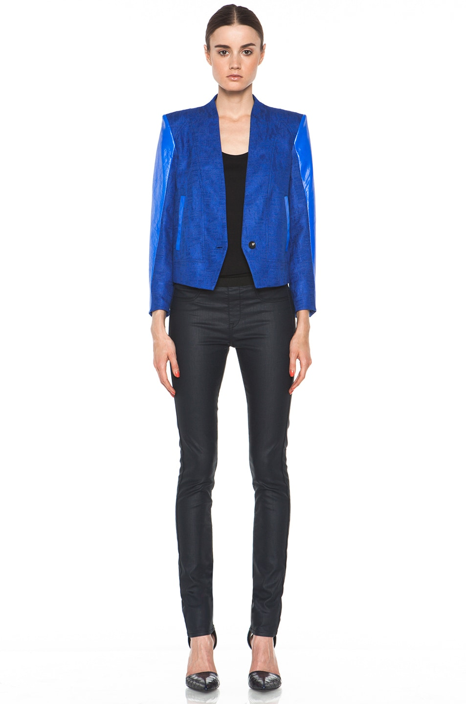 Image 6 of Helmut Lang Cropped Jacket in Maritime