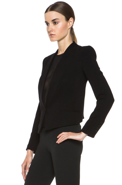 Image 3 of HELMUT Helmut Lang Gala Viscose-Blend Crop Tux Blazer in Black