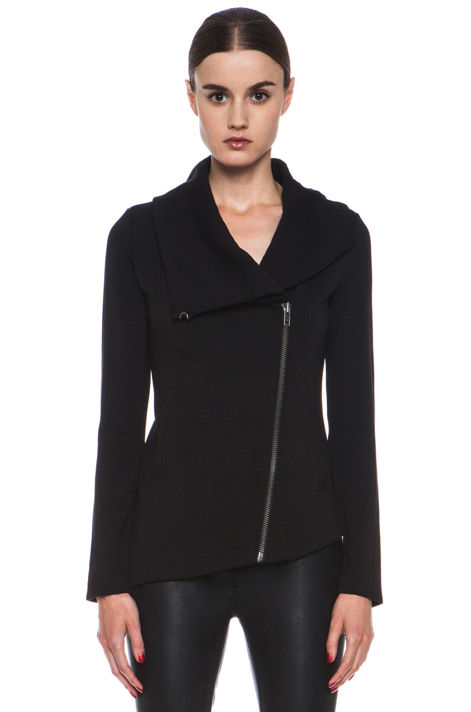 Image 2 of HELMUT Helmut Lang Villus Zip Up Sweatshirt Jacket in Black