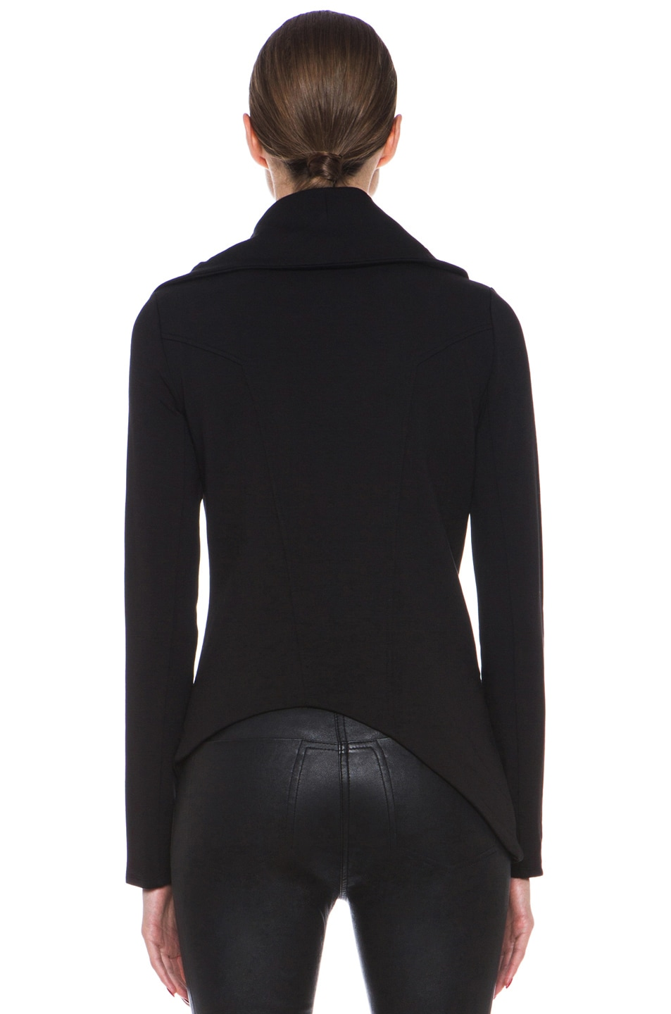 Image 5 of HELMUT Helmut Lang Villus Zip Up Sweatshirt Jacket in Black