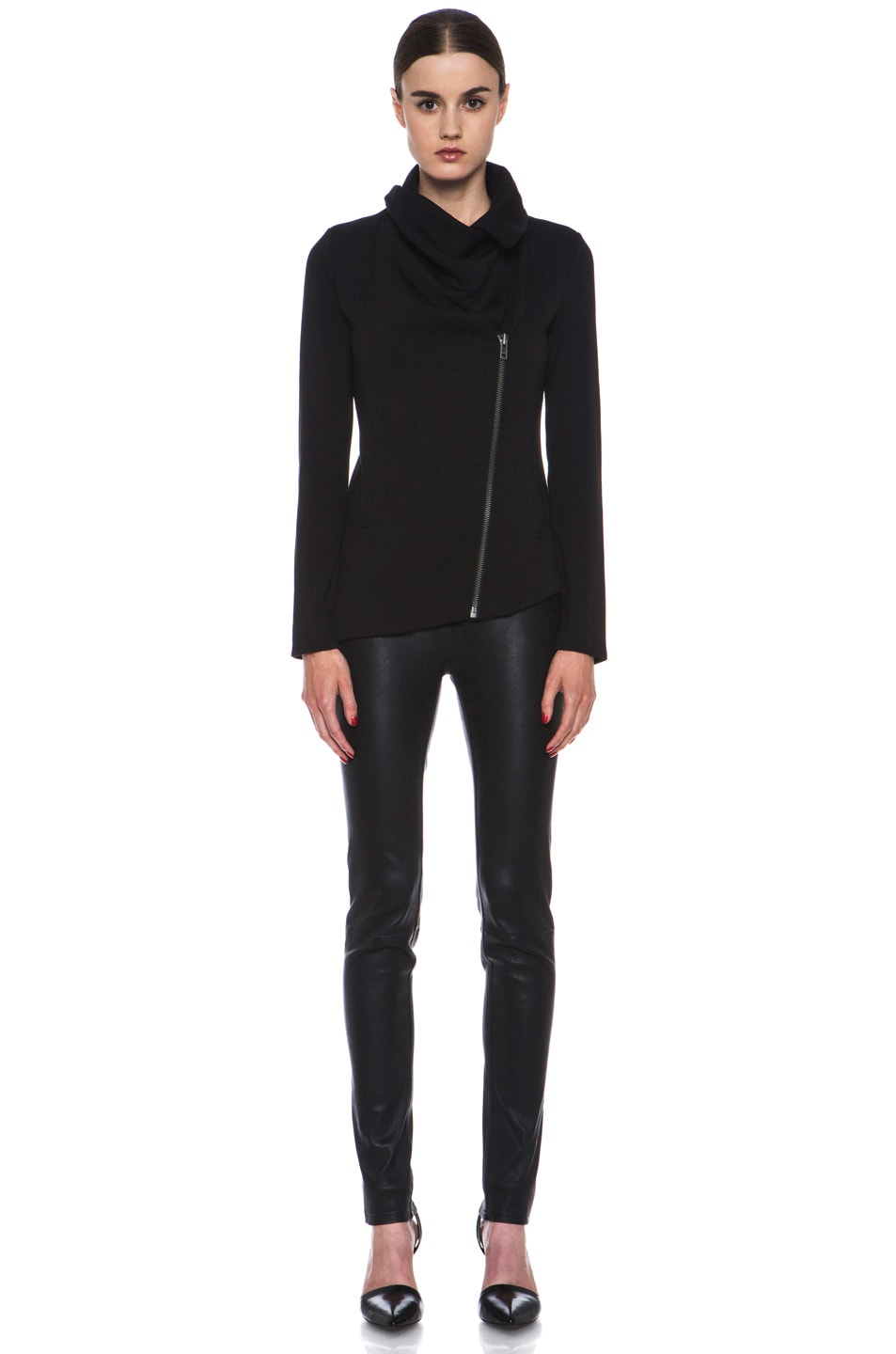 Image 6 of HELMUT Helmut Lang Villus Zip Up Sweatshirt Jacket in Black