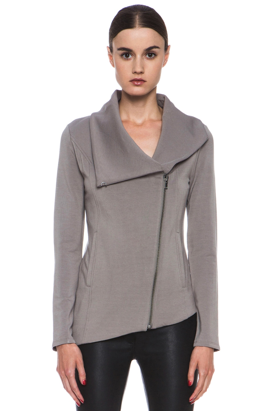 Image 2 of HELMUT Helmut Lang Villus Zip Up Sweatshirt in Wharf