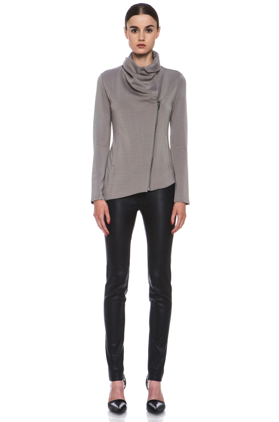 Image 6 of HELMUT Helmut Lang Villus Zip Up Sweatshirt in Wharf