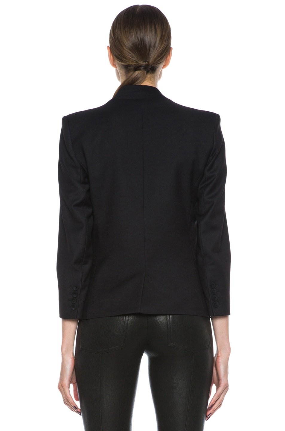 Image 5 of HELMUT Reflect 3/4 Sleeve Poly-Blend Blazer in Black