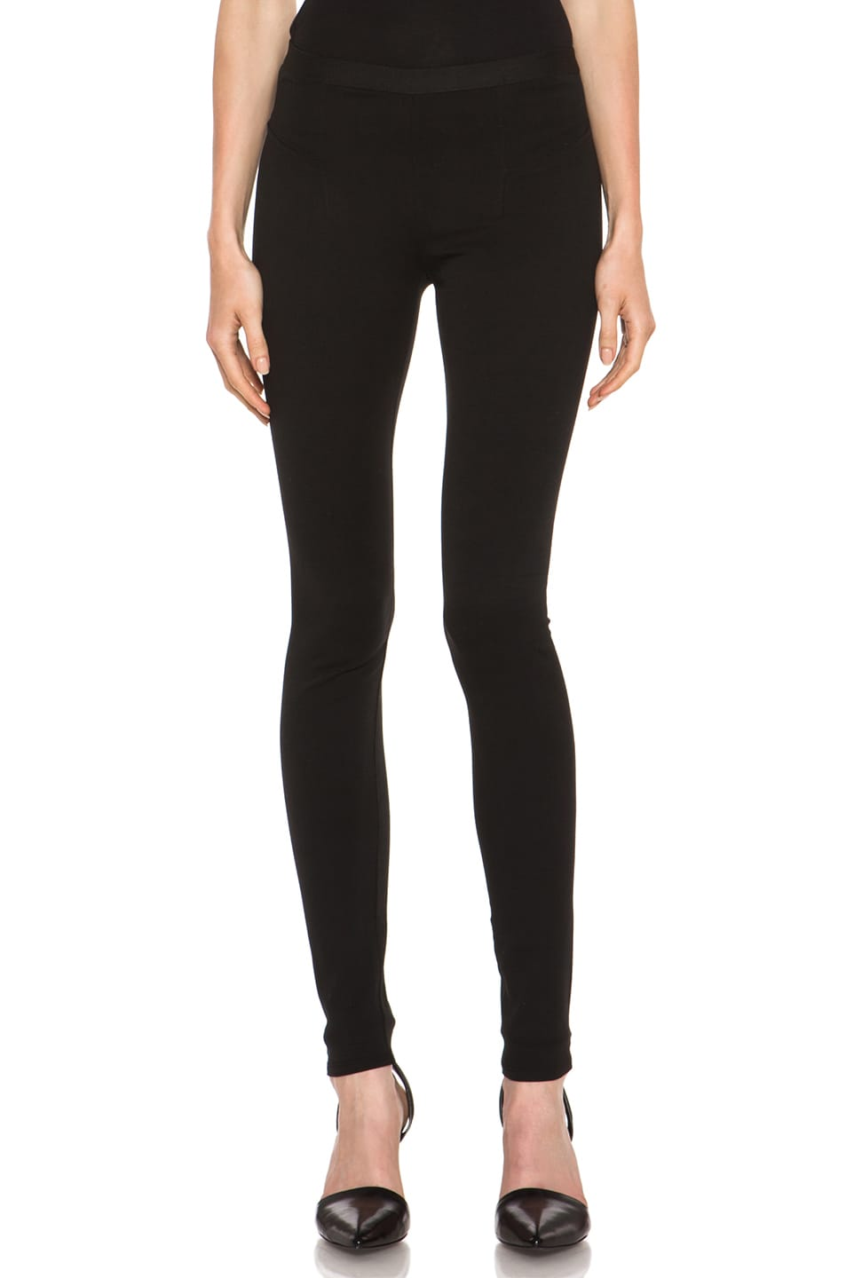Image 1 of HELMUT Helmut Lang Pulse Cotton-Blend Legging in Black