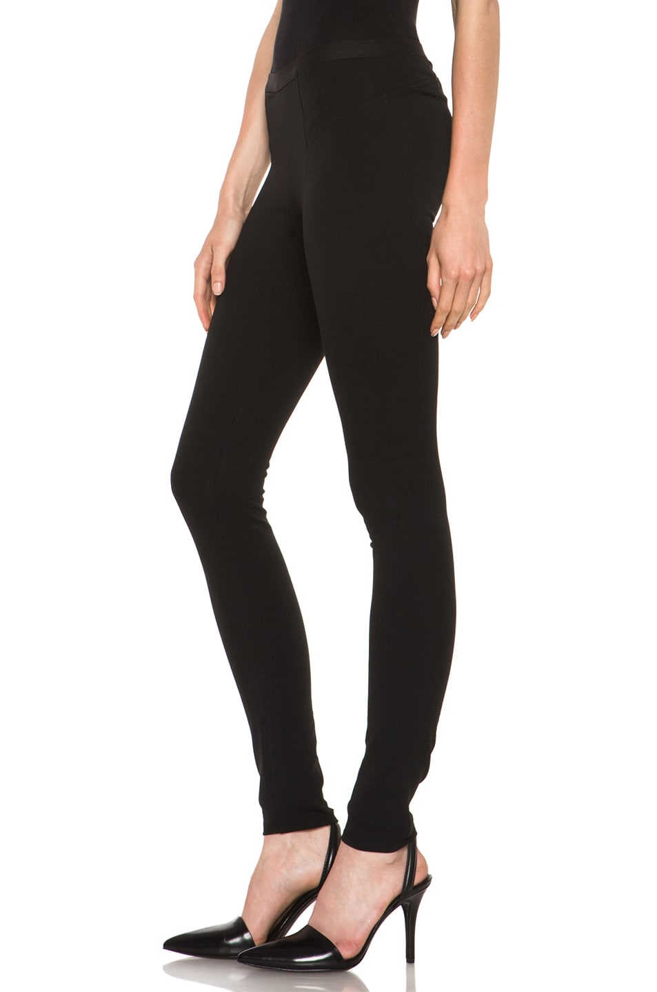 Image 2 of HELMUT Helmut Lang Pulse Cotton-Blend Legging in Black