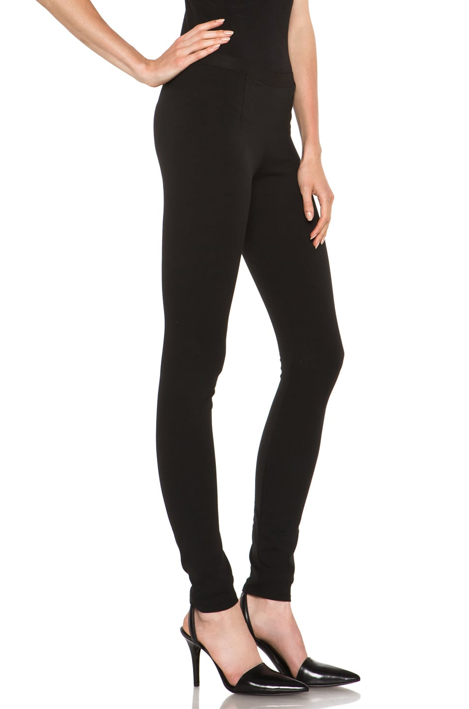 Image 3 of HELMUT Helmut Lang Pulse Cotton-Blend Legging in Black