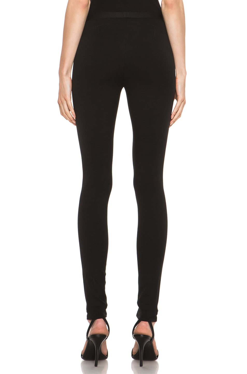 Image 4 of HELMUT Helmut Lang Pulse Cotton-Blend Legging in Black