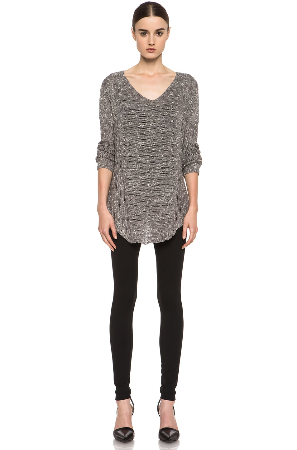 Image 5 of HELMUT Helmut Lang Pulse Cotton-Blend Legging in Black