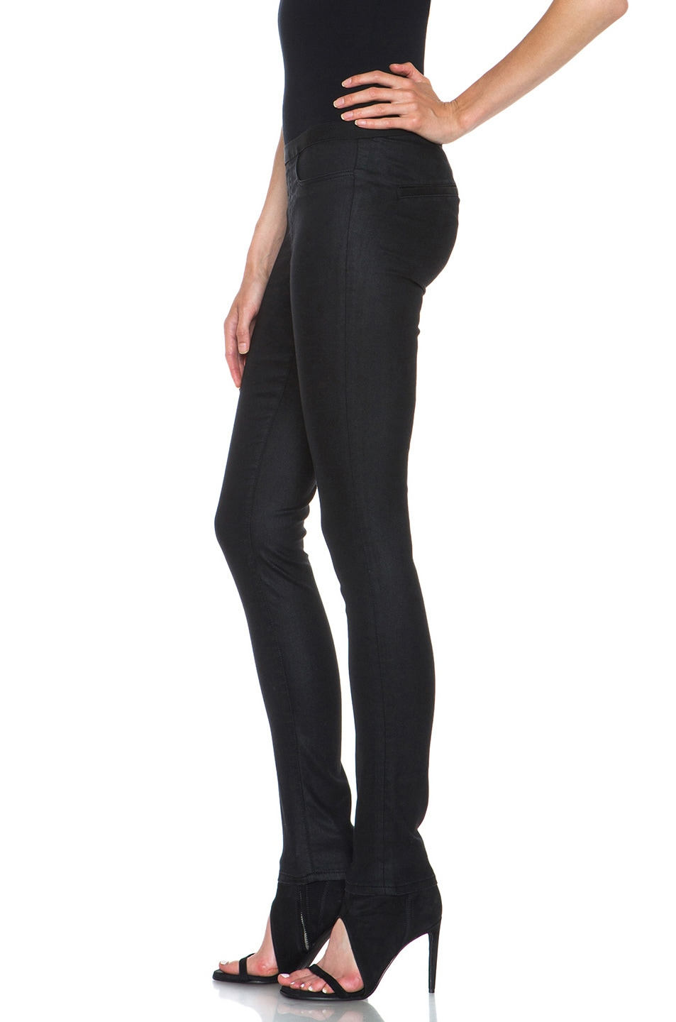 Image 2 of Helmut Lang Slate Wash Cotton-Blend Legging in Black