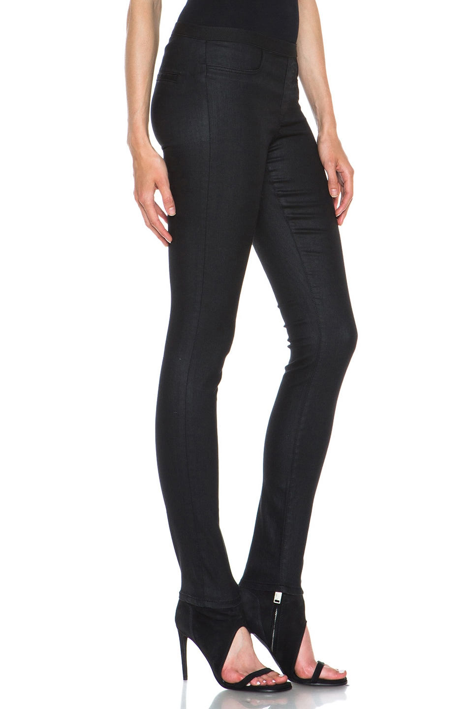 Image 3 of Helmut Lang Slate Wash Cotton-Blend Legging in Black