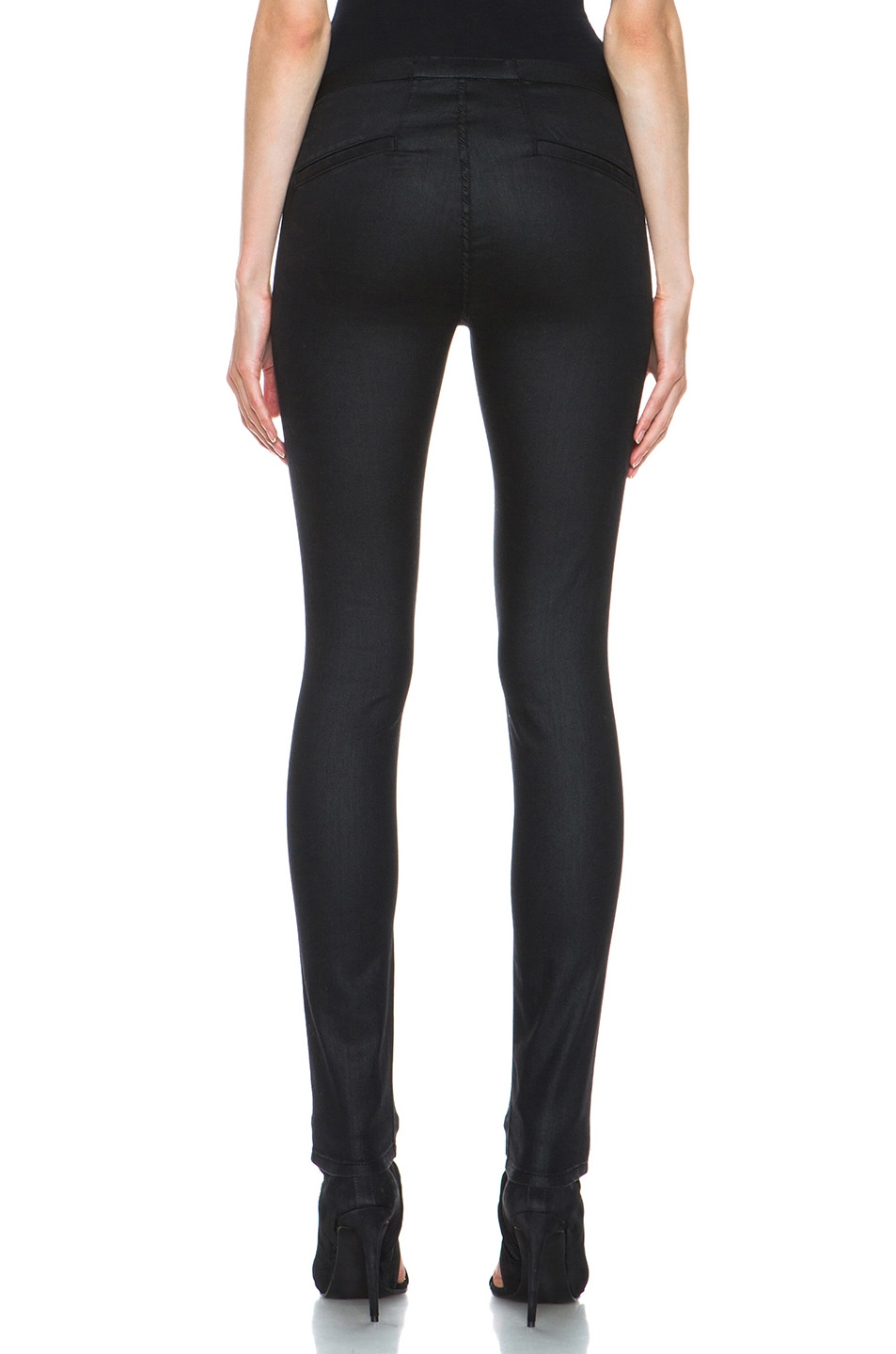 Image 4 of Helmut Lang Slate Wash Cotton-Blend Legging in Black