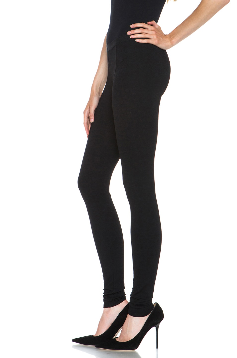 Image 2 of HELMUT Helmut Lang Hammer Ponte Viscose-Blend Legging in Black