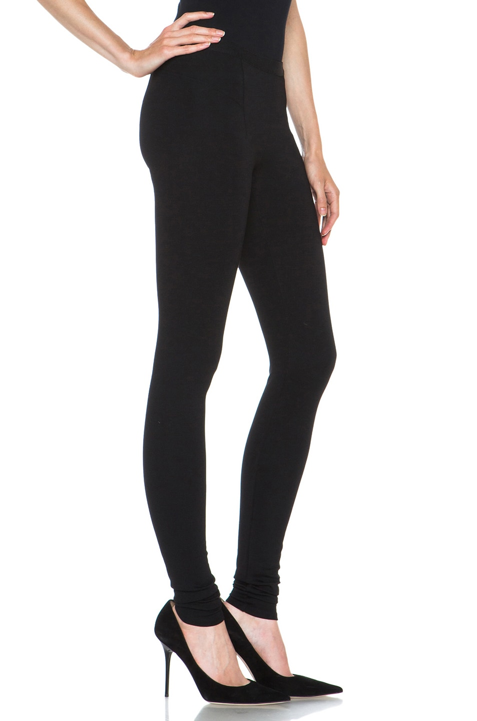 Image 3 of HELMUT Helmut Lang Hammer Ponte Viscose-Blend Legging in Black