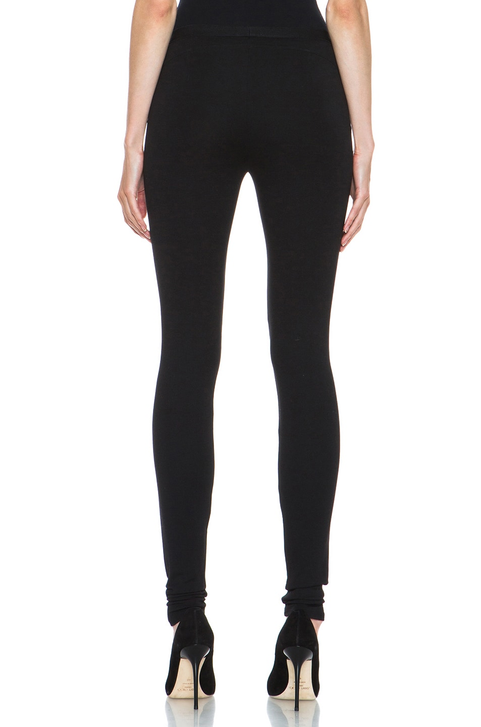 Image 4 of HELMUT Helmut Lang Hammer Ponte Viscose-Blend Legging in Black