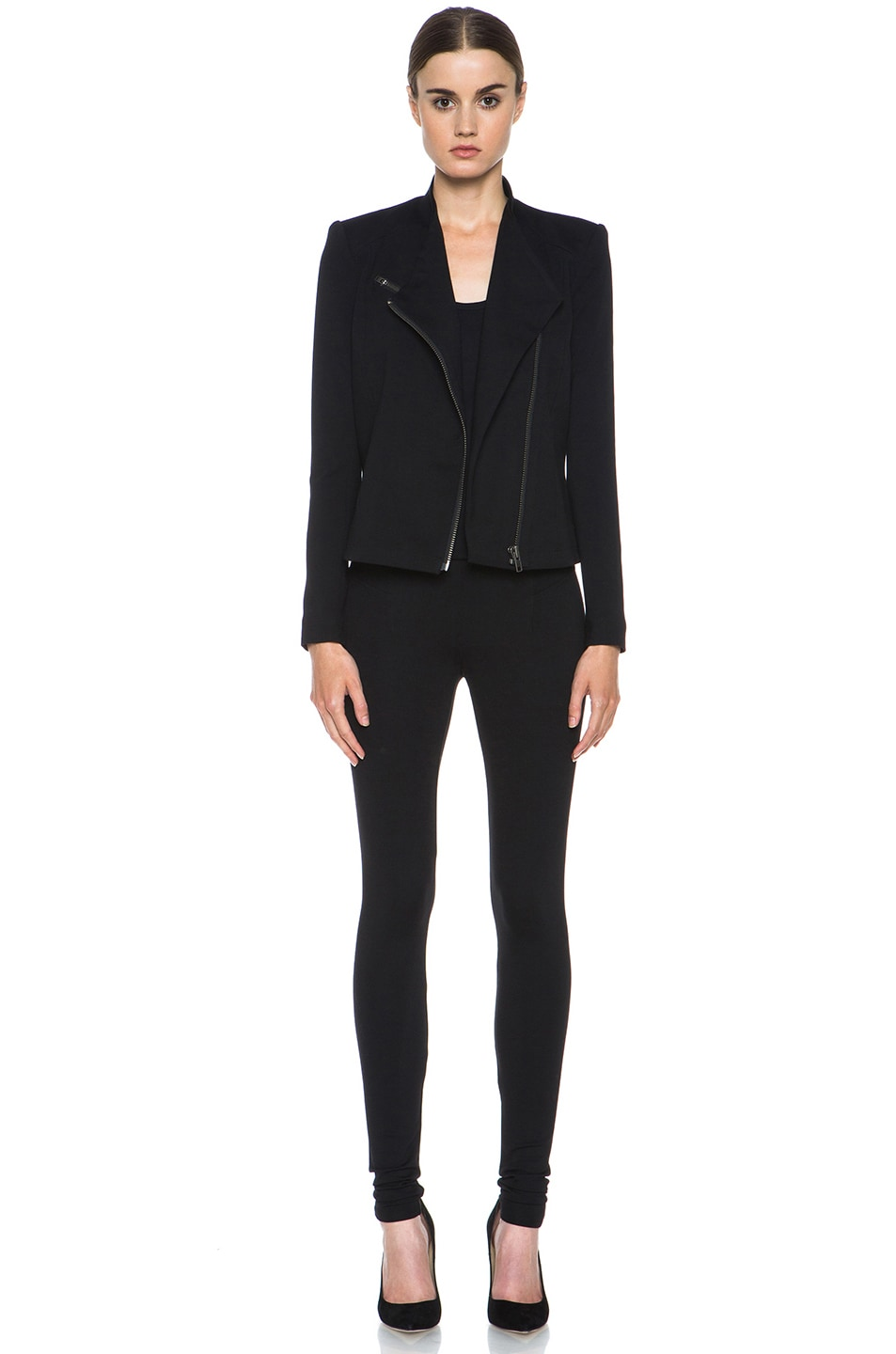 Image 5 of HELMUT Helmut Lang Hammer Ponte Viscose-Blend Legging in Black