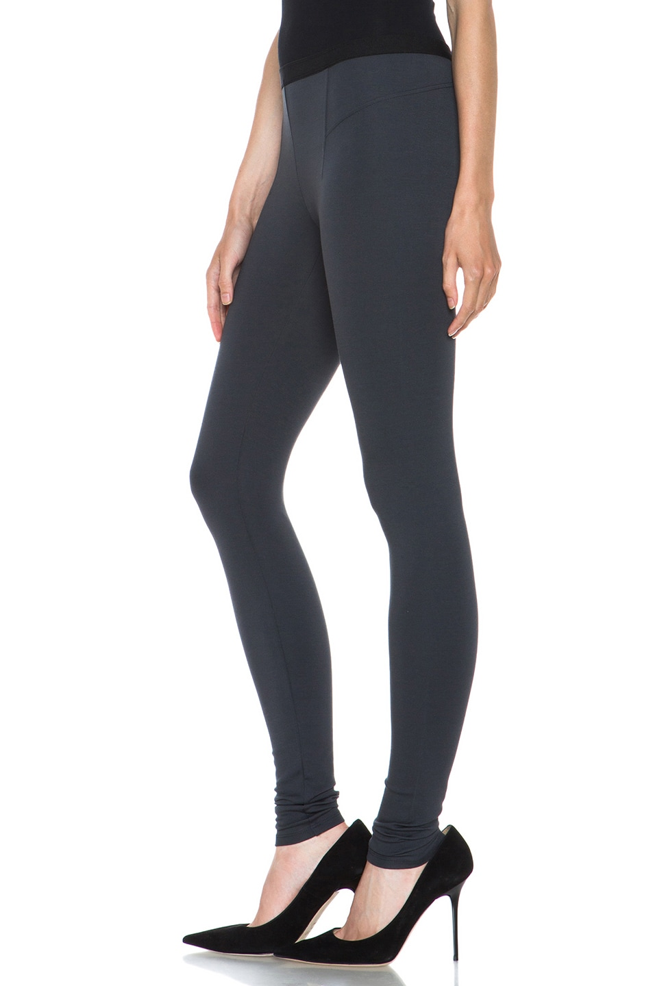 Image 2 of HELMUT Helmut Lang Ponte Viscose-Blend Legging in Gun Powder