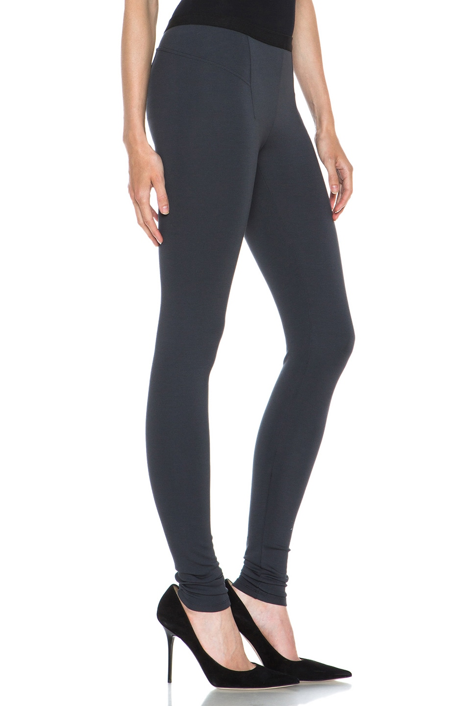 Image 3 of HELMUT Helmut Lang Ponte Viscose-Blend Legging in Gun Powder