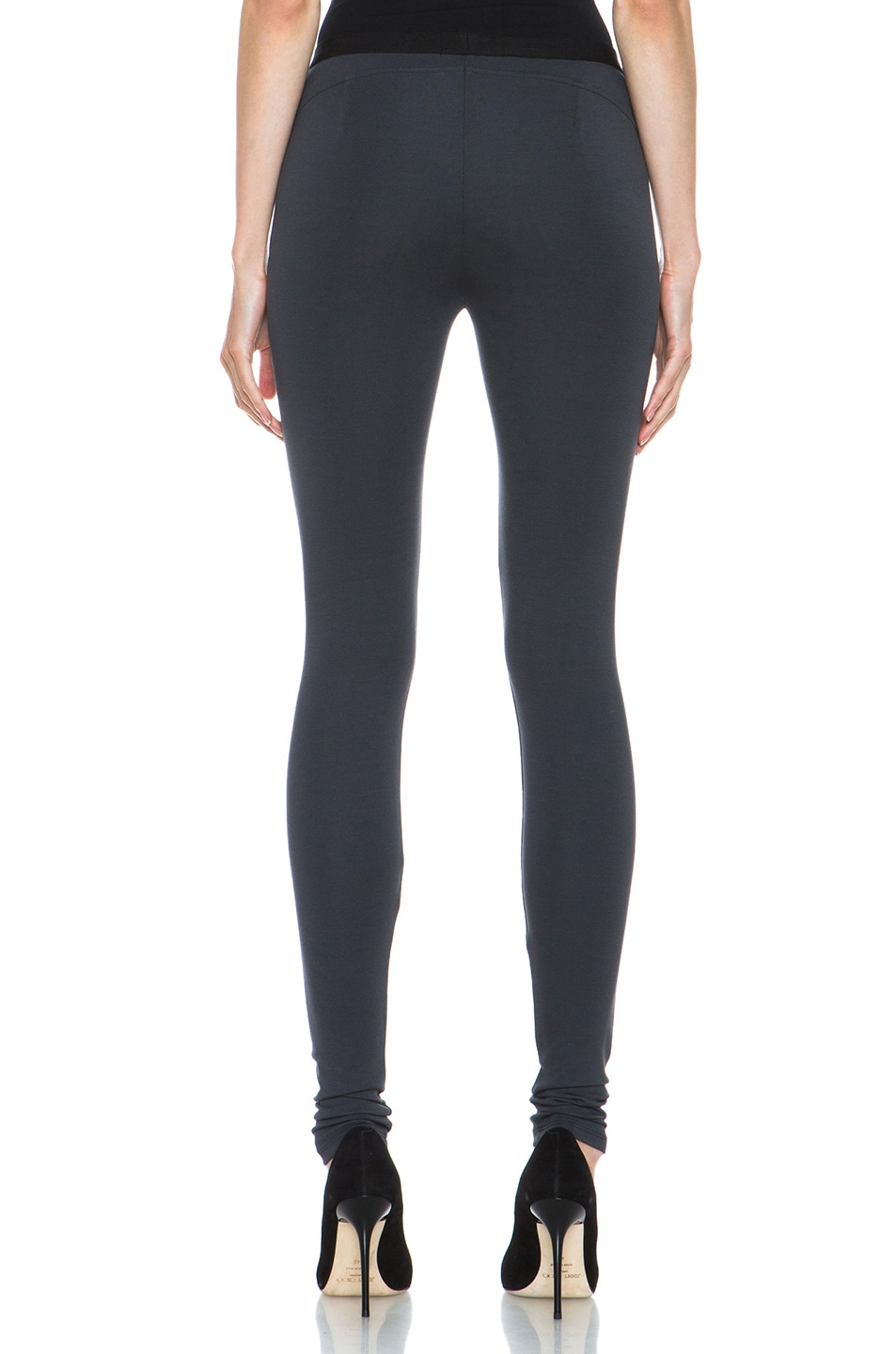 Image 4 of HELMUT Helmut Lang Ponte Viscose-Blend Legging in Gun Powder