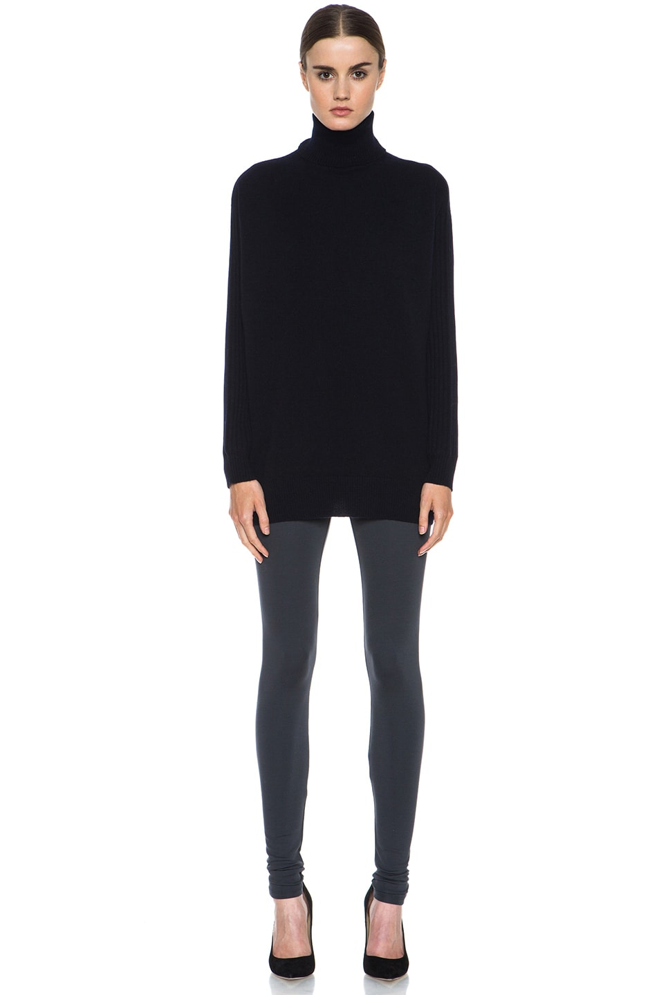 Image 5 of HELMUT Helmut Lang Ponte Viscose-Blend Legging in Gun Powder