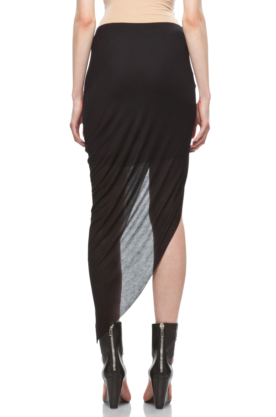 Image 4 of Helmut Lang Asymmetrical Skirt in Black
