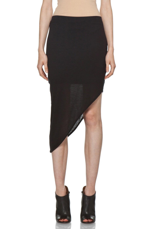 Image 1 of HELMUT Kinetic Angle Skirt in Black
