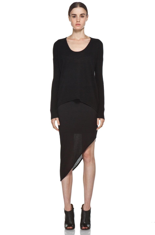 Image 5 of HELMUT Kinetic Angle Skirt in Black