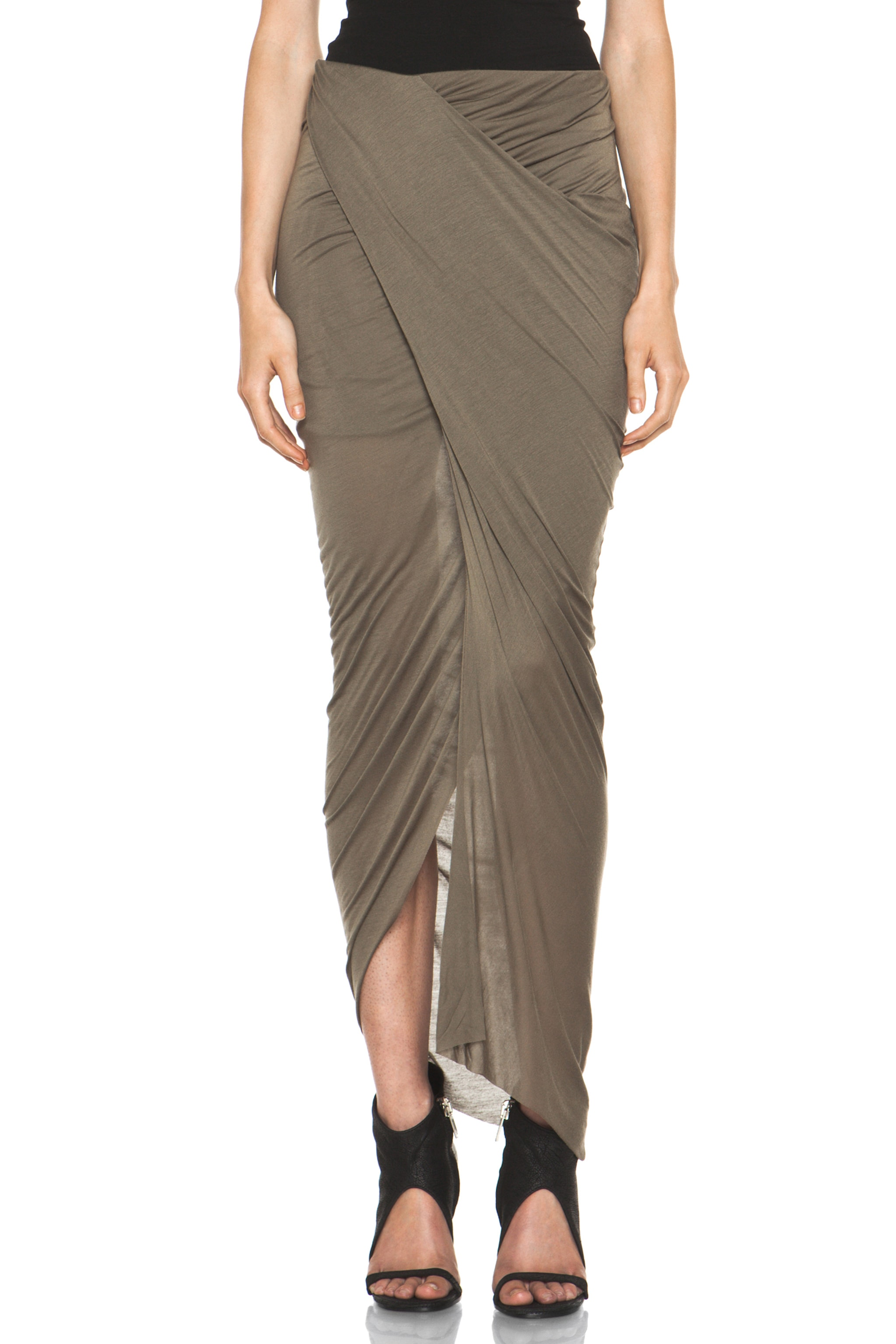 Image 1 of Helmut Lang Slack Jersey Wrap Skirt in Lint