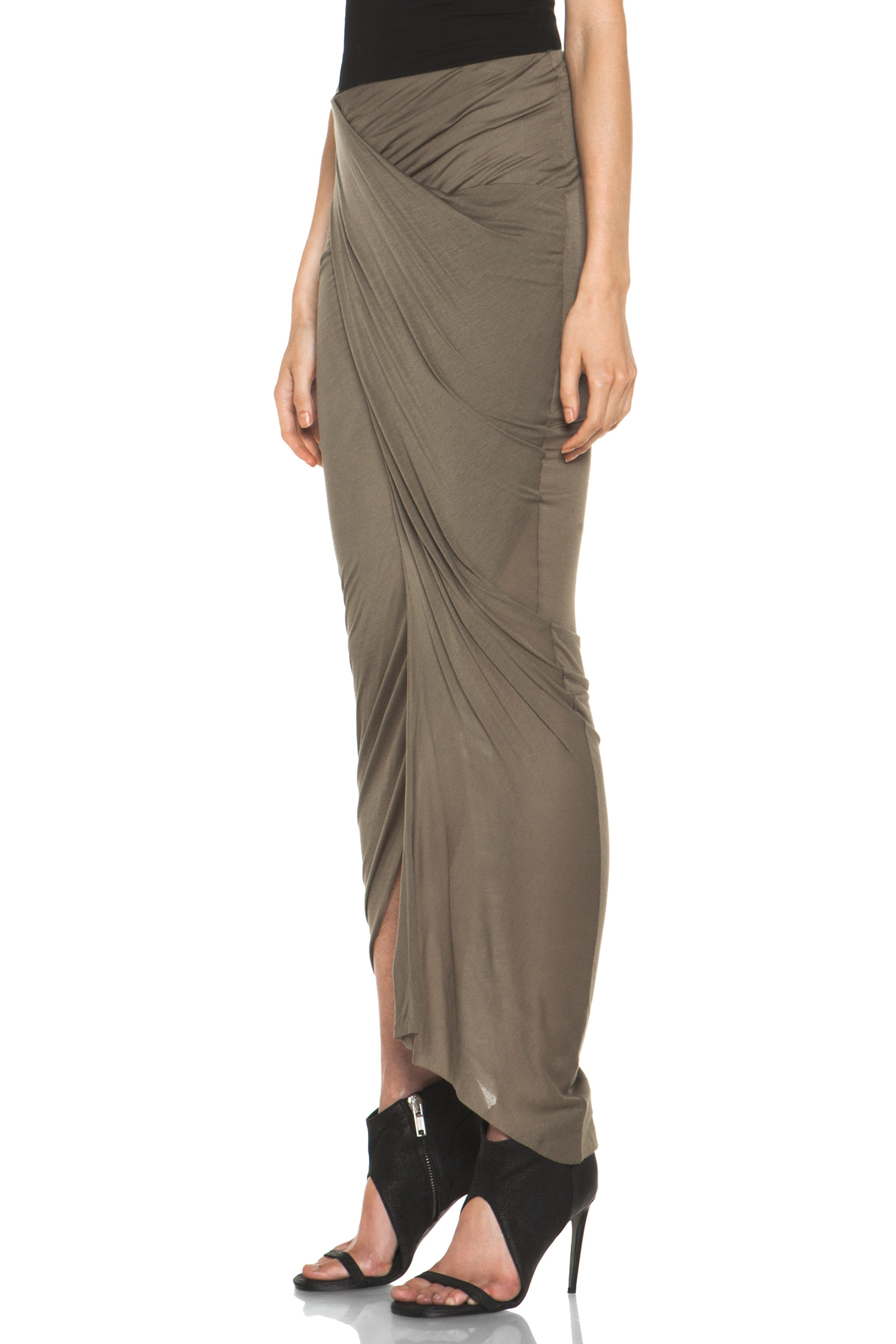 Image 2 of Helmut Lang Slack Jersey Wrap Skirt in Lint