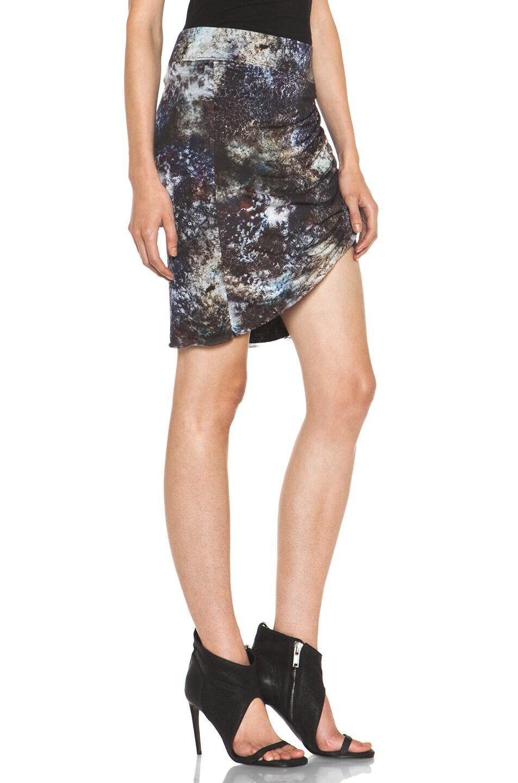 Image 3 of Helmut Lang Oxide Print Star Twist Skirt in Bruise Multi