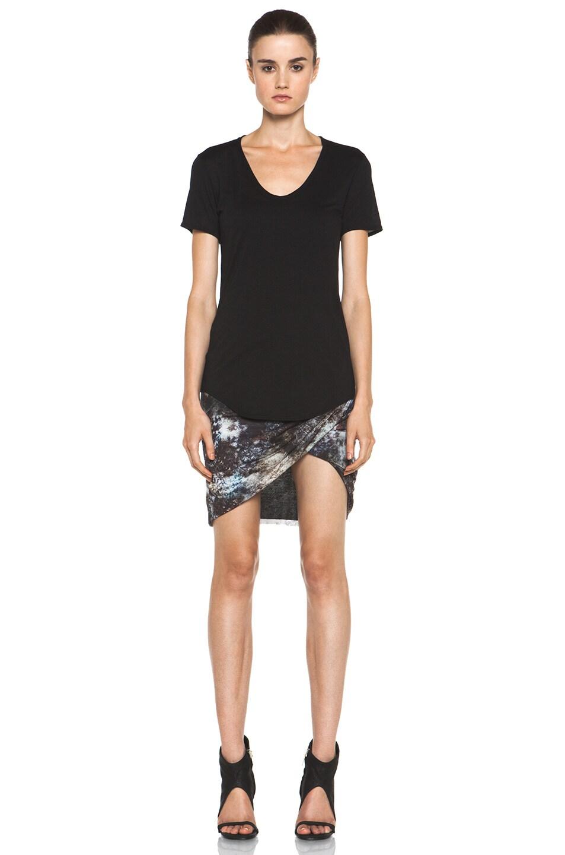 Image 5 of Helmut Lang Oxide Print Star Twist Skirt in Bruise Multi