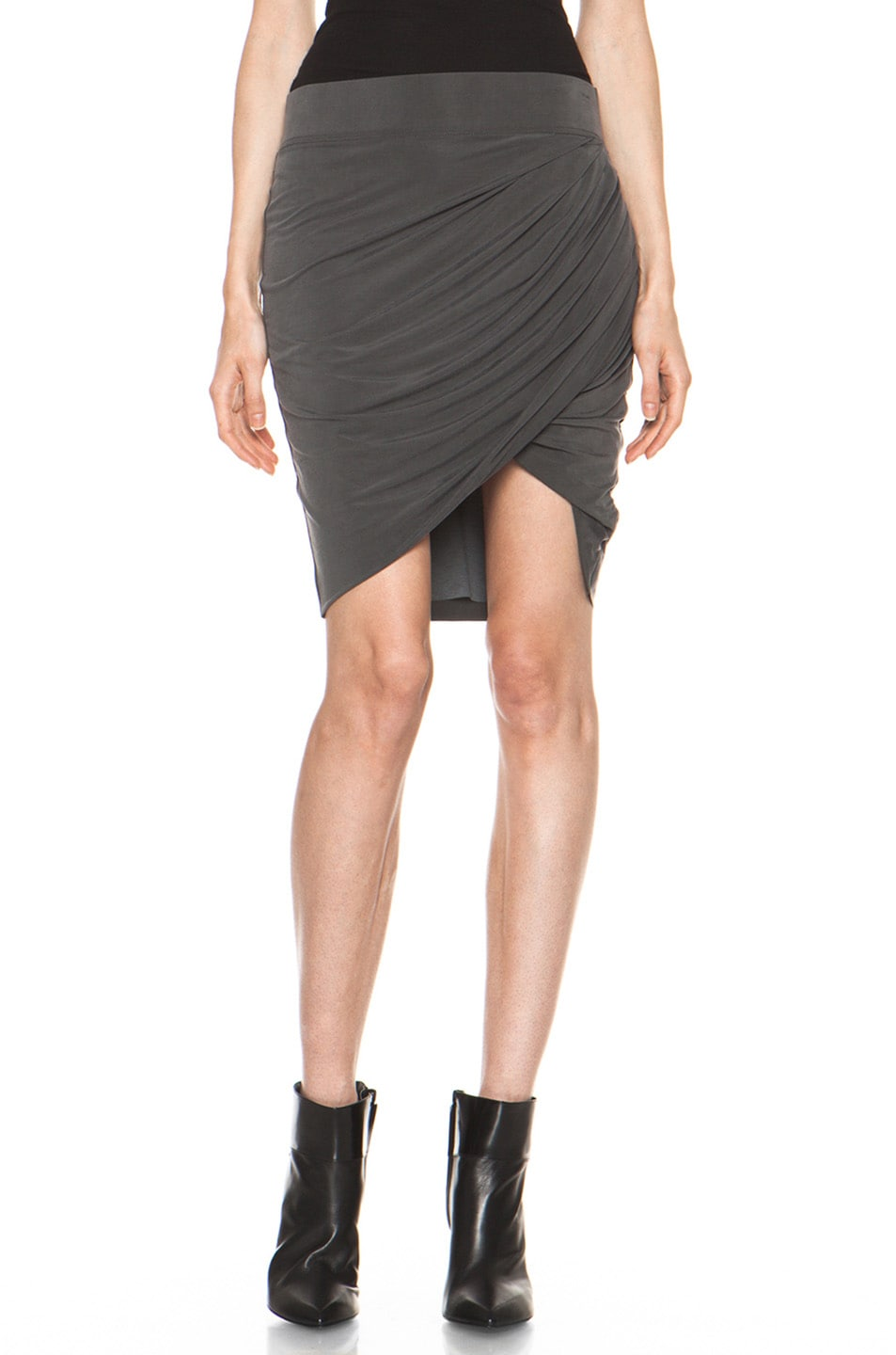 Image 1 of Helmut Lang Shade Twist Skirt in Graphite