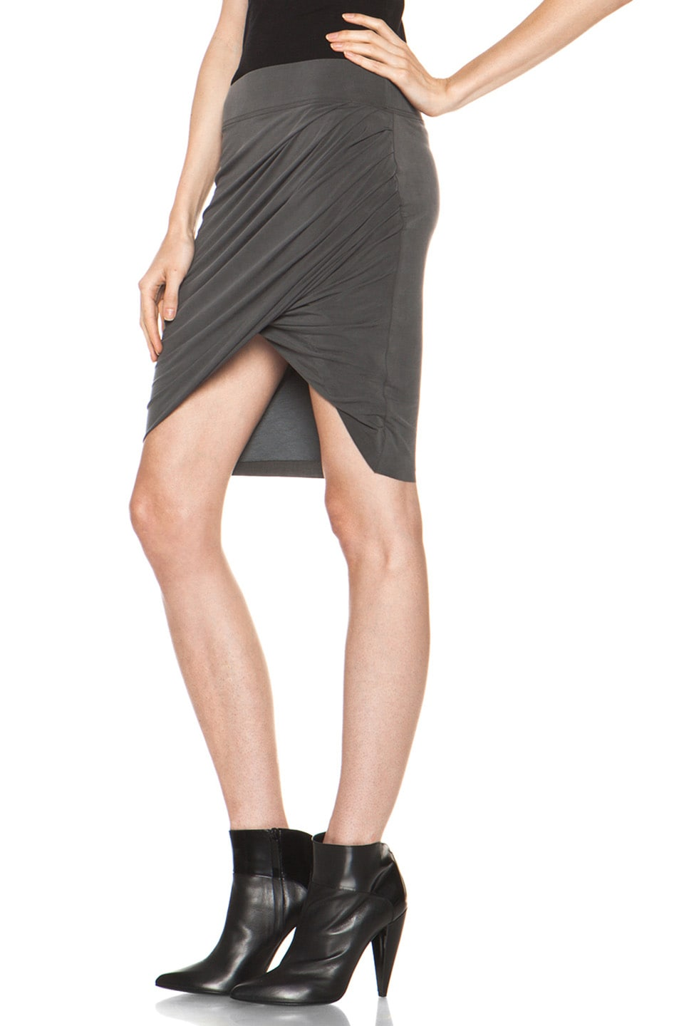 Image 2 of Helmut Lang Shade Twist Skirt in Graphite