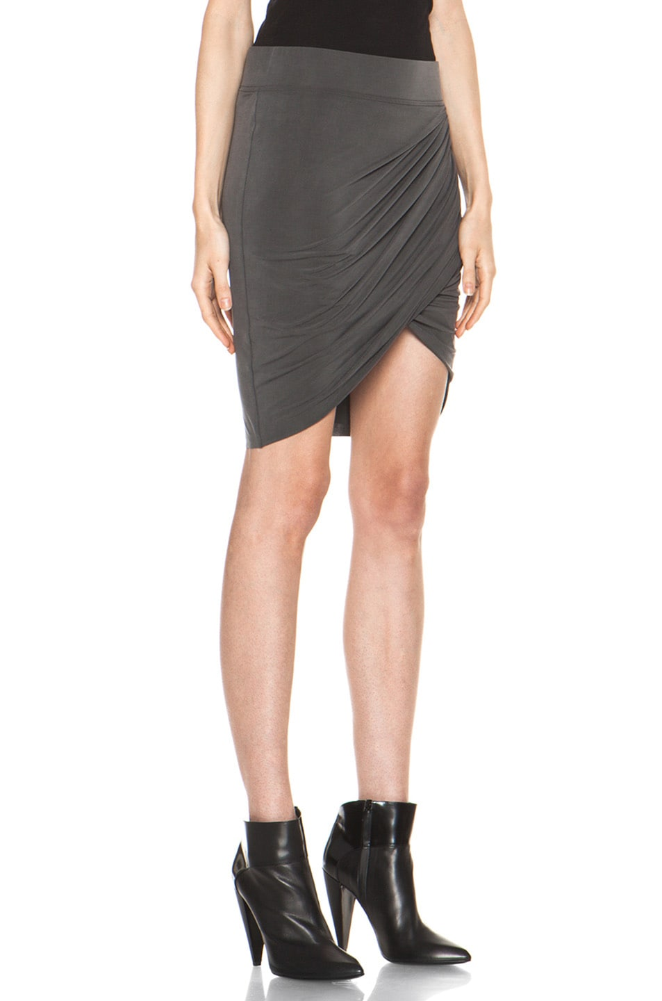 Image 3 of Helmut Lang Shade Twist Skirt in Graphite