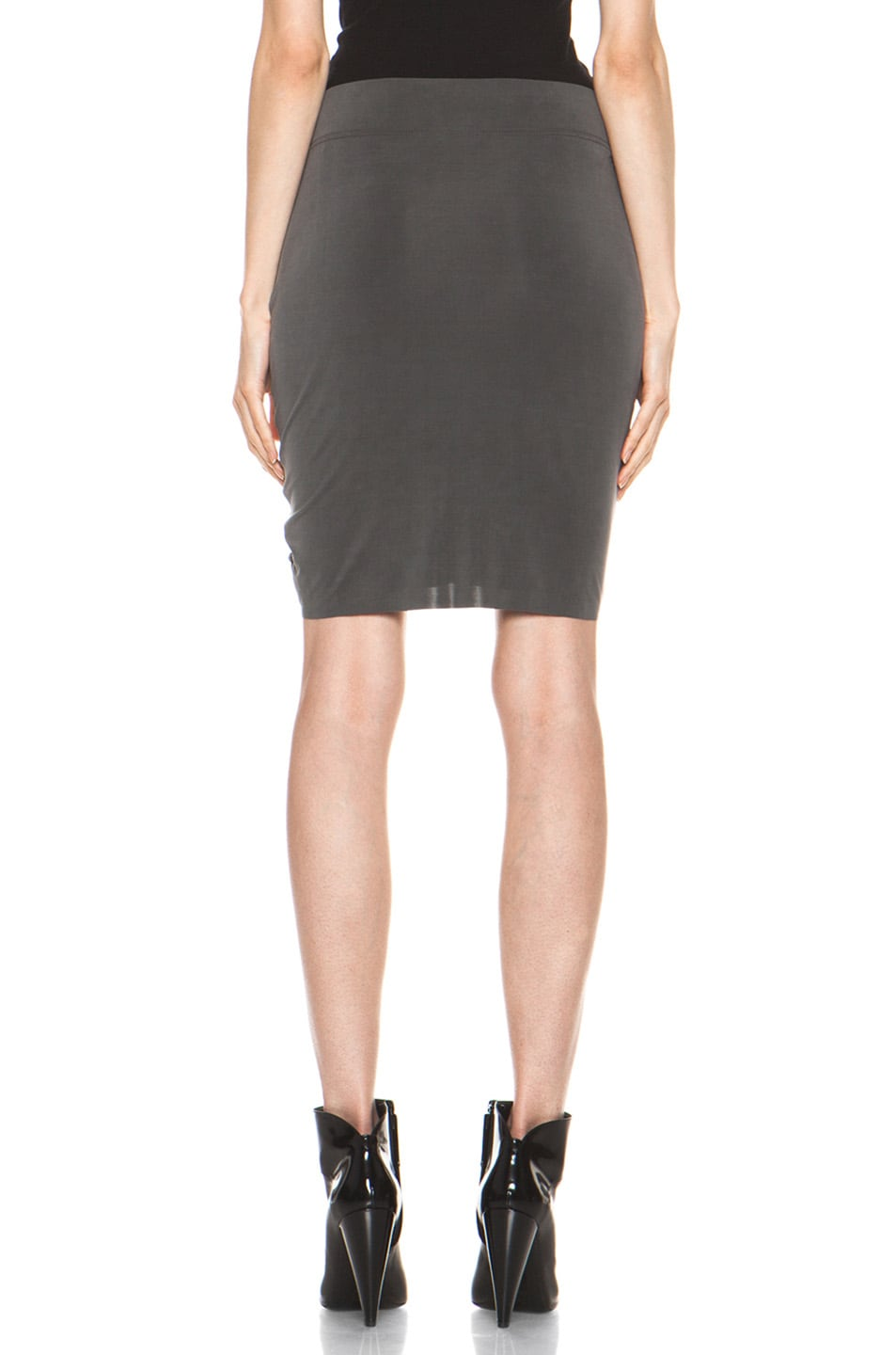 Image 4 of Helmut Lang Shade Twist Skirt in Graphite