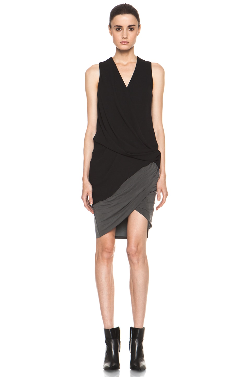 Image 5 of Helmut Lang Shade Twist Skirt in Graphite