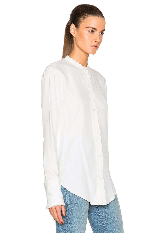 helmut lang back knot shirt in white modesens. Black Bedroom Furniture Sets. Home Design Ideas