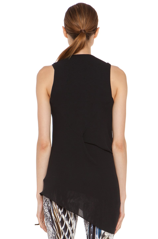 Image 4 of Helmut Lang Soft Shroud Overlap Top in Black