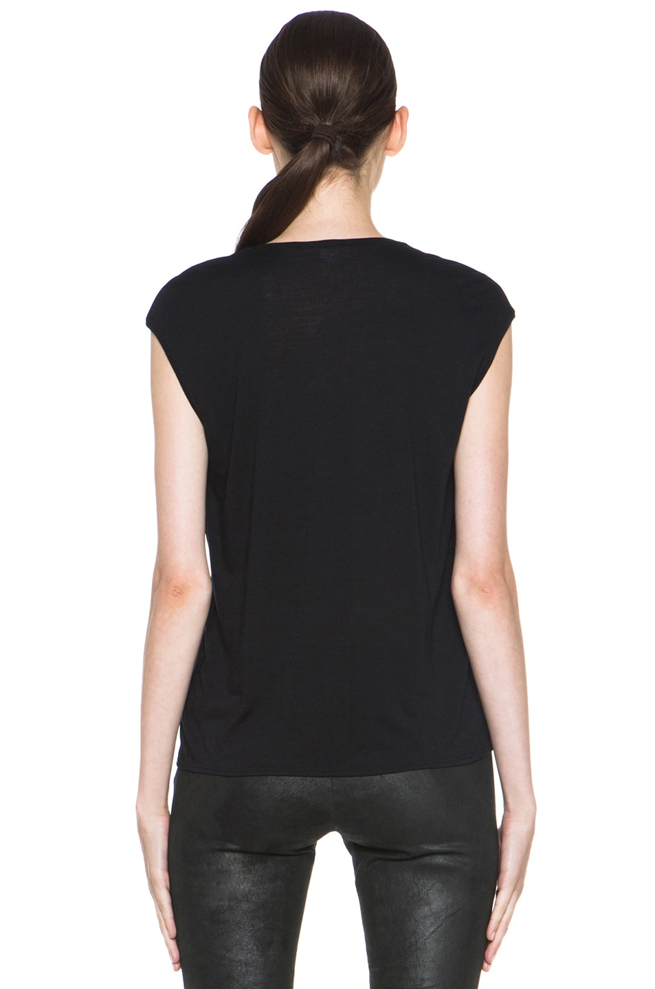 Image 4 of HELMUT Helmut Lang Spark Print Muscle Tee in Black