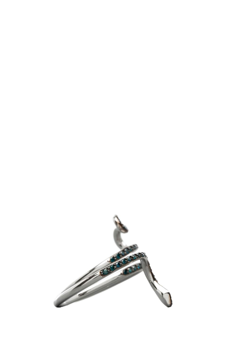 Image 2 of Ileana Makri Python Diamond Ring in White Gold