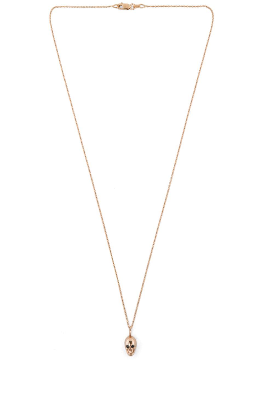 Image 2 of Ileana Makri Gold Skull Necklace in Rose Gold