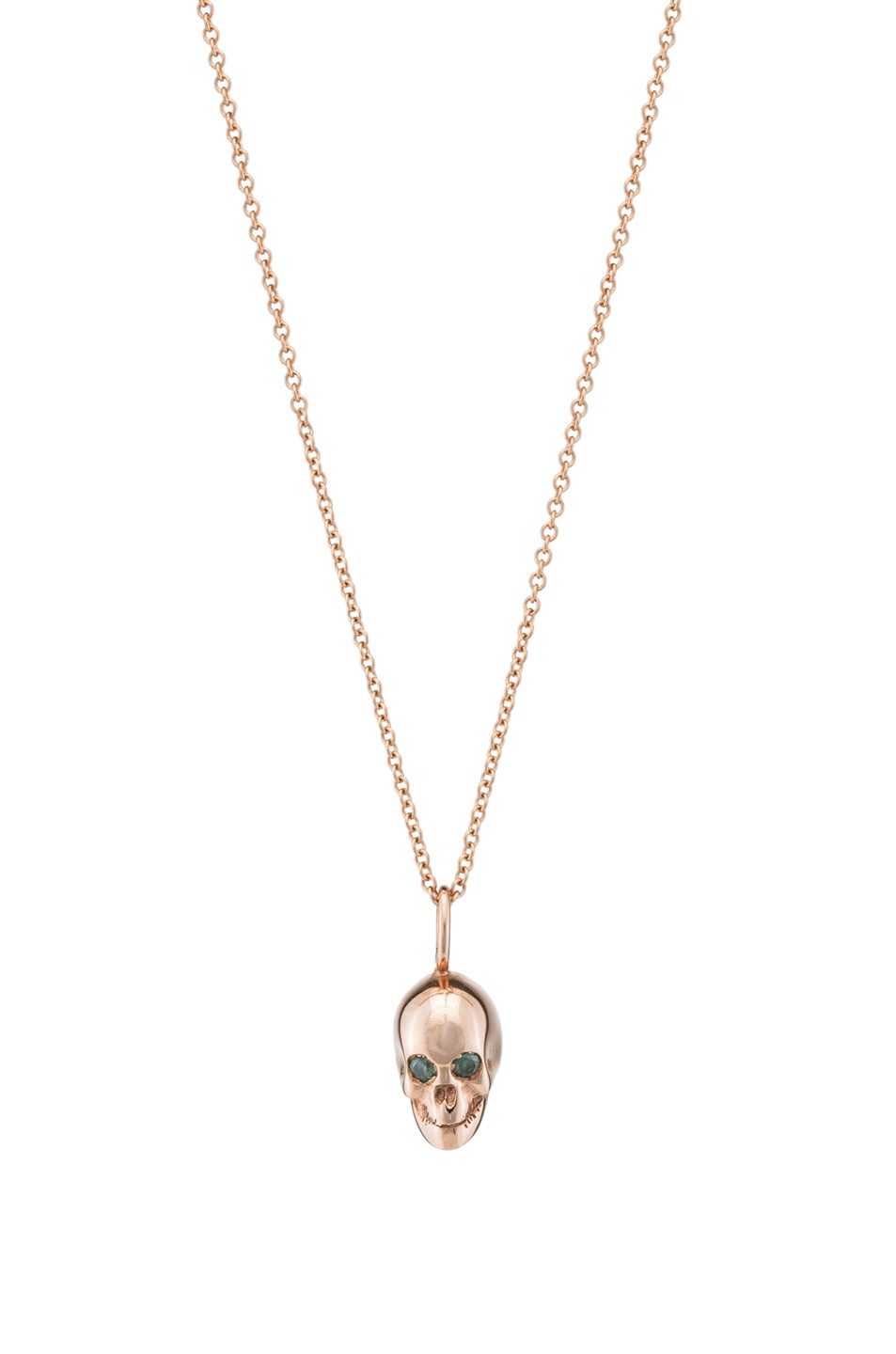 Image 1 of Ileana Makri Skull Pendant in Rose Gold