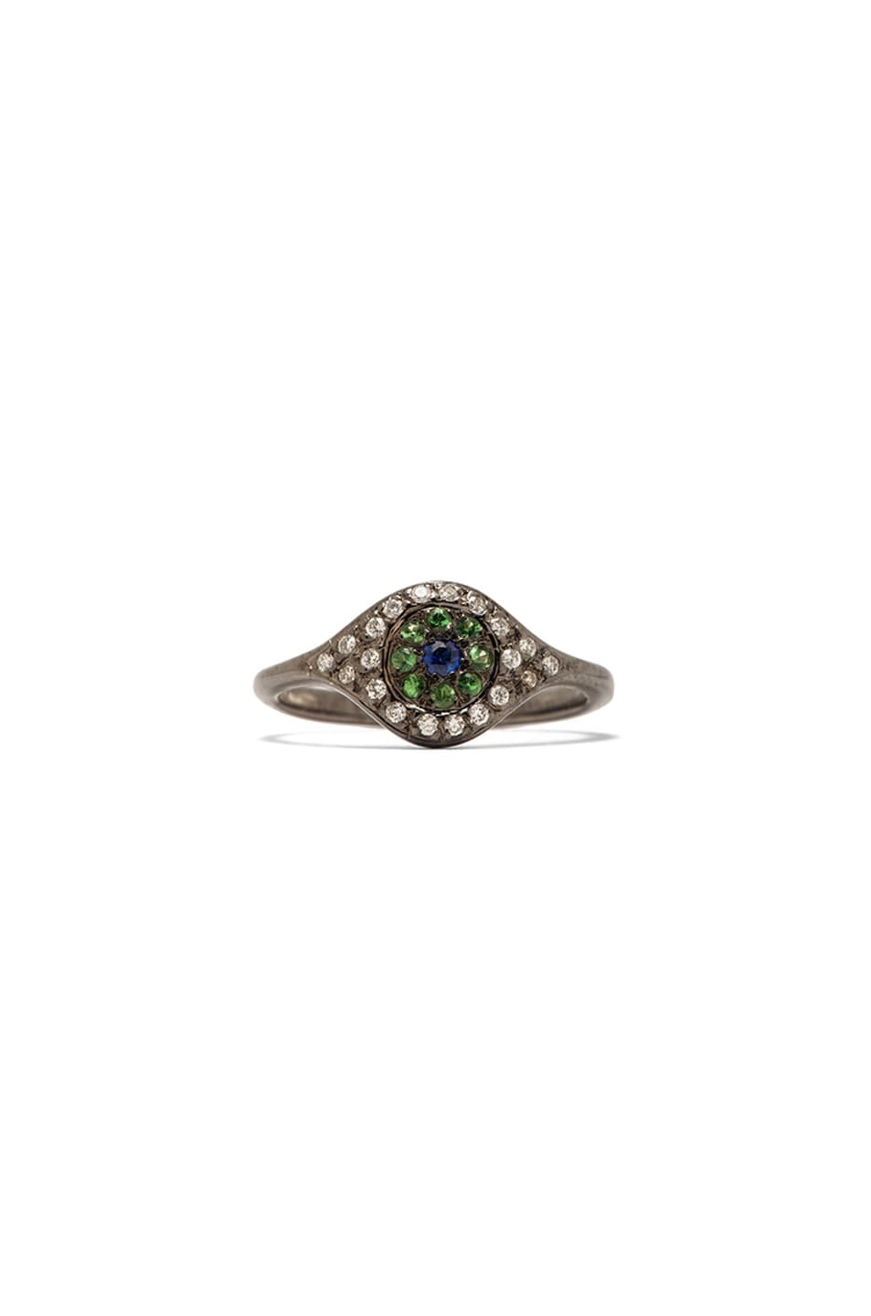 Image 1 of Ileana Makri Cat Eye White Gold Ring in Multi