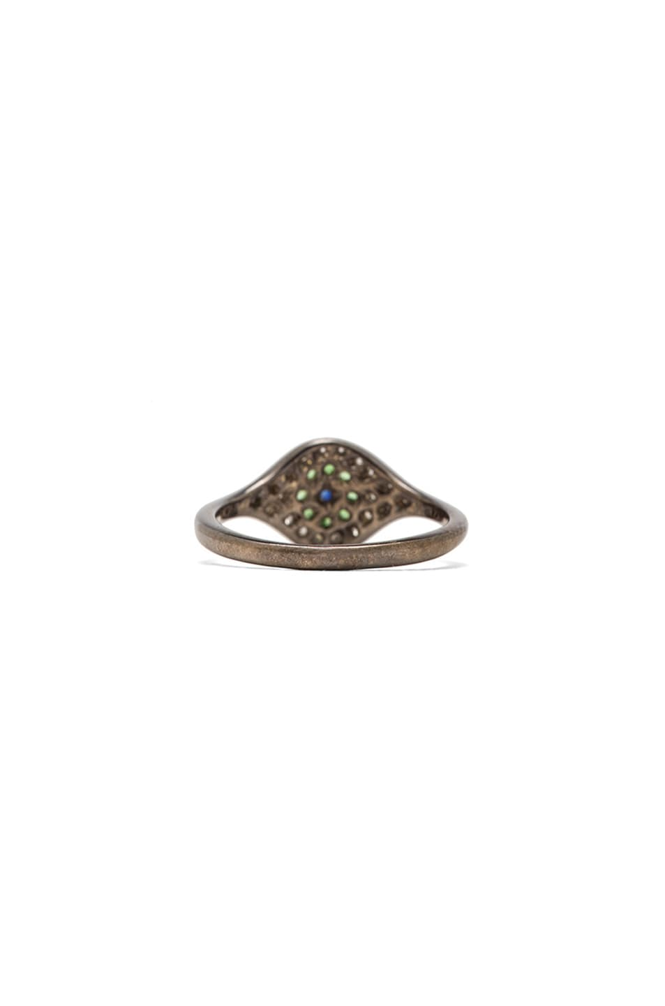 Image 3 of Ileana Makri Cat Eye White Gold Ring in Multi