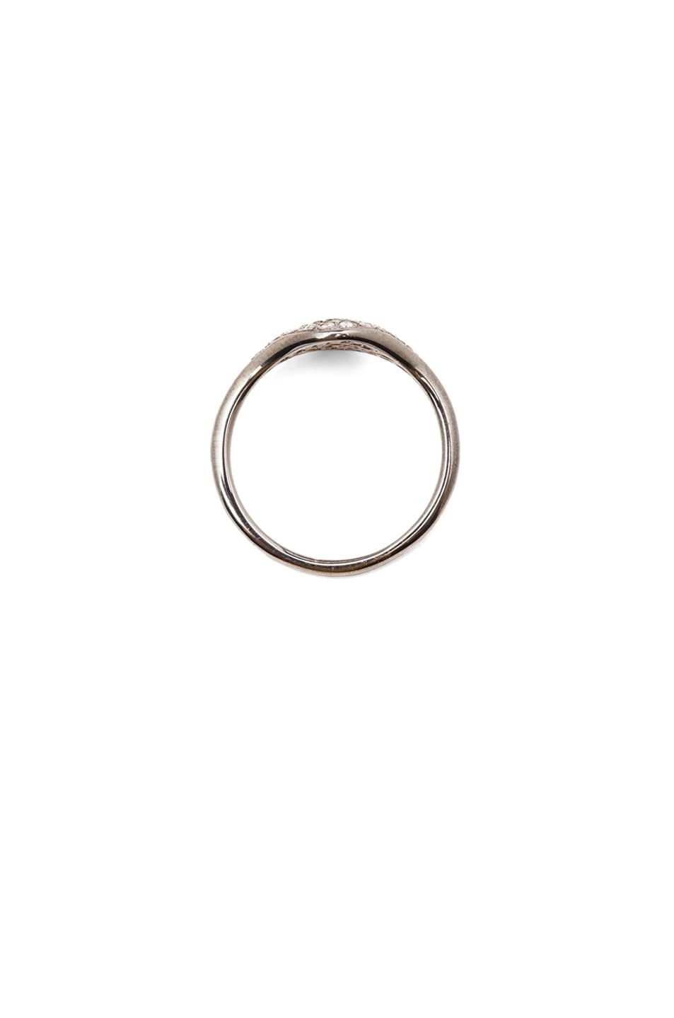 Image 4 of Ileana Makri Cat Eye White Gold Ring in Multi
