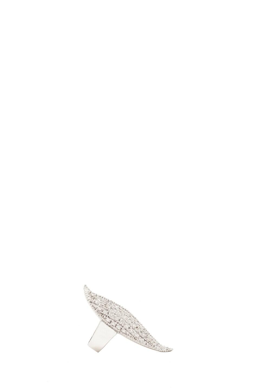 Image 2 of Ileana Makri Diamond Shield Ring in White Gold