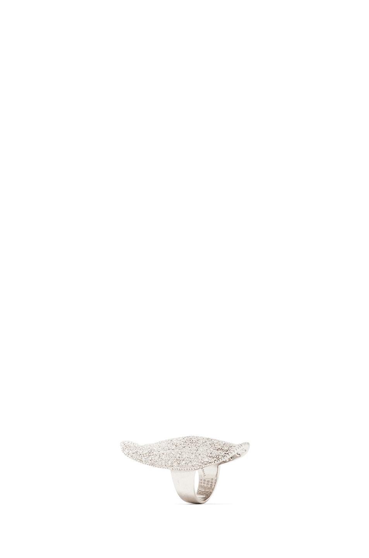 Image 4 of Ileana Makri Diamond Shield Ring in White Gold