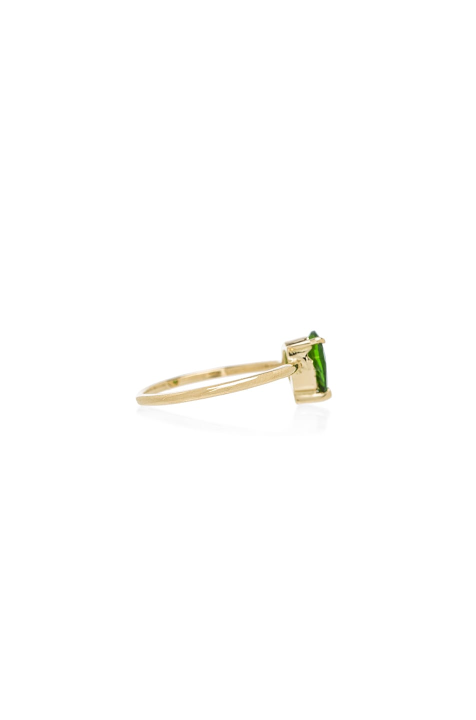 Image 3 of Ileana Makri Single Stone Ring in Yellow Gold
