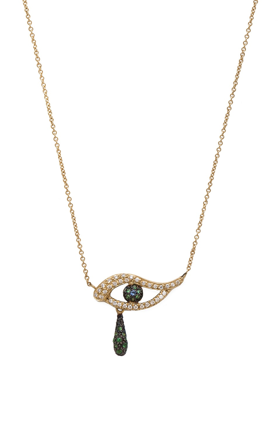 Image 1 of Ileana Makri Angry Tears Necklace in Yellow Gold
